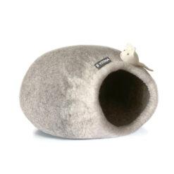 kattenhol catcave grijs wit