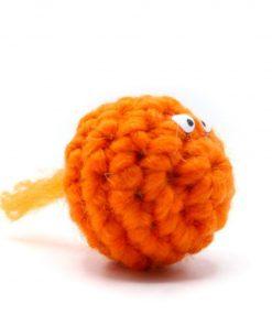 Kattenballetje wol oranje