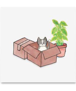 kaart verhuizing met kat