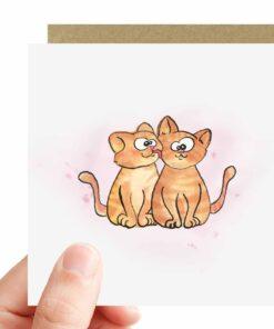 Katten Kaart happy