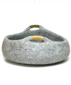 vilt kattenmand grijs
